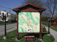 Information board in the village center - Csővár, Hungary