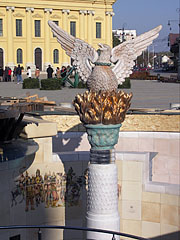 Musical Fountain with Phoenix statue (Főnix-kút) - Debrecen, Hungary