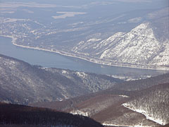 The Danube Bend in winter from the Dobogó-kő mountain peak - Dobogókő, Hungary