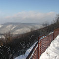 The observation point on the mountaintop in winter - Dobogókő, Hungary