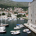 The City Harbour and the Saint John's Fortress - Dubrovnik, Croatia