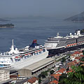 Docked cruise ships in Gruž harbour (the main port of Dubrovnik) - Dubrovnik, Croatia
