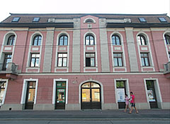 The historicist style building is the former Petőfi Sándor Cultural Center - Dunakeszi, Hungary