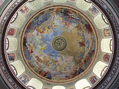 Impressive fresco in the dome of the Eger Basilica - Eger, Hungary