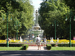 """The 12-hectare Érsekkert (literally the """"Archbishop's Garden"""", formerly """"Népkert"""", literally """"People's Garden"""") is the largest park in the town - Eger, Hungary"""