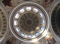 The dome of the Main Cathedral of Esztergom (Esztergom Basilica) from inside - Esztergom, Hungary