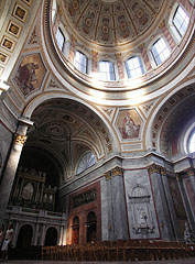 Basilica of Esztergom, the interior of the main church with the dome - Esztergom, Hungary