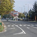 The Road 7 at the center of Fonyód - Fonyód, Hungary