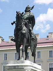 Equestrian statue of Coloman Prince of Galicia-Lodomeria near Szent István University of Gödöllő - Gödöllő, Hungary