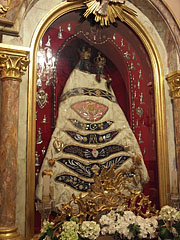 Chapel of Loreto, on the alter it is the copy of the Virgin Mary statue of Loreto, carved of cedar wood - Gödöllő, Hungary