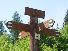 Sign post at the Gerendás Field - Háromhuta, Hungary