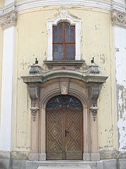 The entrance of the King St. Stephen's Church - Hatvan, Hungary
