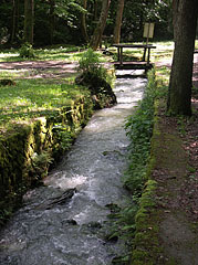Here the Jósva Stream is between stone walls and creek bed - Jósvafő, Hungary