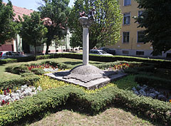 Small park in the square at the musical school - Kiskunfélegyháza, Hungary