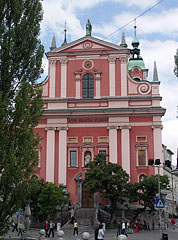 The baroque Franciscan Church of the Annunciation - Ljubljana, Slovenia