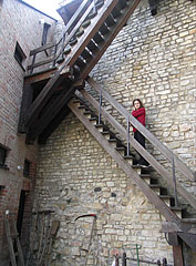 Stairs in the Máré Castle - Magyaregregy, Hungary