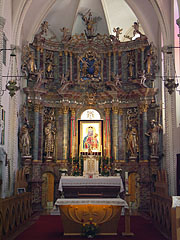 The sanctuary and the main altar of the church - Márianosztra, Hungary