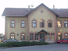 The former train station building is a museum today - Mátészalka, Hungary