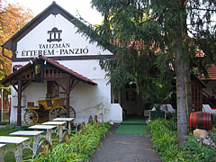 The courtyard of the Talizmán Pension and Restaurant - Miskolc, Hungary