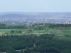 Part of the panorama of Budapest, viewed from Somlyó Hill at Mogyoród - Mogyoród, Hungary