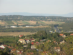 The main road no.3 and the suburbia of Gödöllő in the hills - Mogyoród, Hungary
