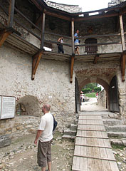 The Barbican and the castle gate from inside - Nagyvázsony, Hungary