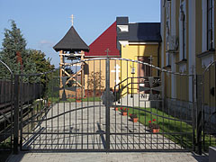 The gate and the small garden of the Greek Catholic Church - Nyírbátor, Hungary