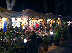 Night life in the restaurants in summertime - Siófok, Hungary
