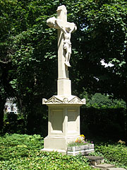 "The so-called ""Cross of Baranya"" stone crucifix in the park - Siófok, Hungary"