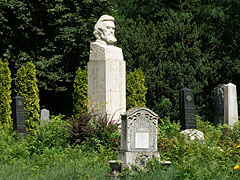 Gravestone and memorial of Bertalan Székely Hungarian painter, as well as other tombs in the Reformer Protestant cemetery - Szada, Hungary