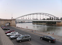 "The Belvárosi Bridge (""Downtown"" Bridge) over the Tisza River - Szeged, Hungary"