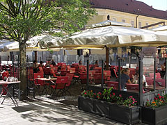 Terrace of the Pátria Coffee House - Székesfehérvár, Hungary