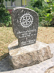 Memorial stone of the formation of Rotary Club in Szekszárd - Szekszárd, Hungary