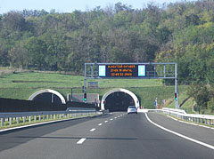 "The eastern entrance of the tunnel pair at Bátaszék (also known as Tunnel ""A"") on the M6 motorway (this section of the road was constructed in 2010) - Szekszárd, Hungary"