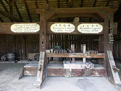 Manorial winepress shed from Nyúl - Szentendre, Hungary
