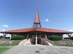 "The interesting, astounding shaped but nice Roman Catholic Church of St. Joseph the Worker (""Munkás Szent József-templom"") - Szerencs, Hungary"