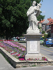 Statue of Saint John of Nepomuk at the ferry port of Vác - Vác, Hungary
