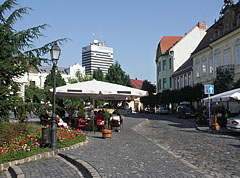 "The charming cobbled Óváros Square (""Old Town Square"") - Veszprém, Hungary"