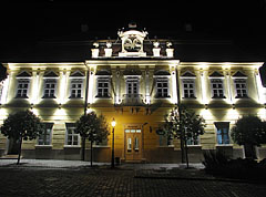"The ""zopf"" (neoclassical late baroque) style Pósa House in the evening - Veszprém, Hungary"