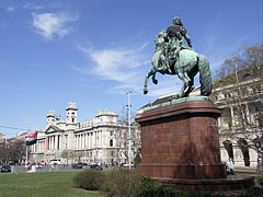 """Equestrian statue (a man on a horse) of Francis II Rákóczi (in Hungarian """"II. Rákóczi Ferenc"""") Hungarian aristocrat - ブダペスト, ハンガリー"""