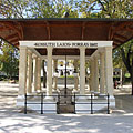 The well-pump room (pavilion) of the Kossuth Lajos drinking fountain was built in 1800 - Balatonfüred, 헝가리