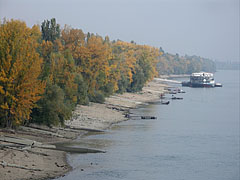 The Római-part (riverbank) in autumn, from the Northern Railway Bridge (also known as Üjpesti Railway Bridge) - 부다페스트, 헝가리