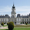 The west side of the baroque Festetics Palace - Keszthely, 헝가리